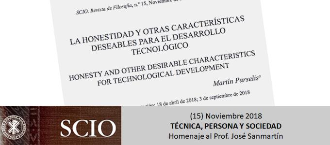Martin Parselis blog2 Honestidad y desarrollo Tecnológico. Revista SCIO Técnica Persona y Sociedad Artículo Martín Parselis