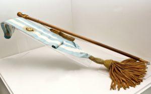 Banda y bastón de Alfonsín - Museo del Bicentenario - Museo Casa Rosada
