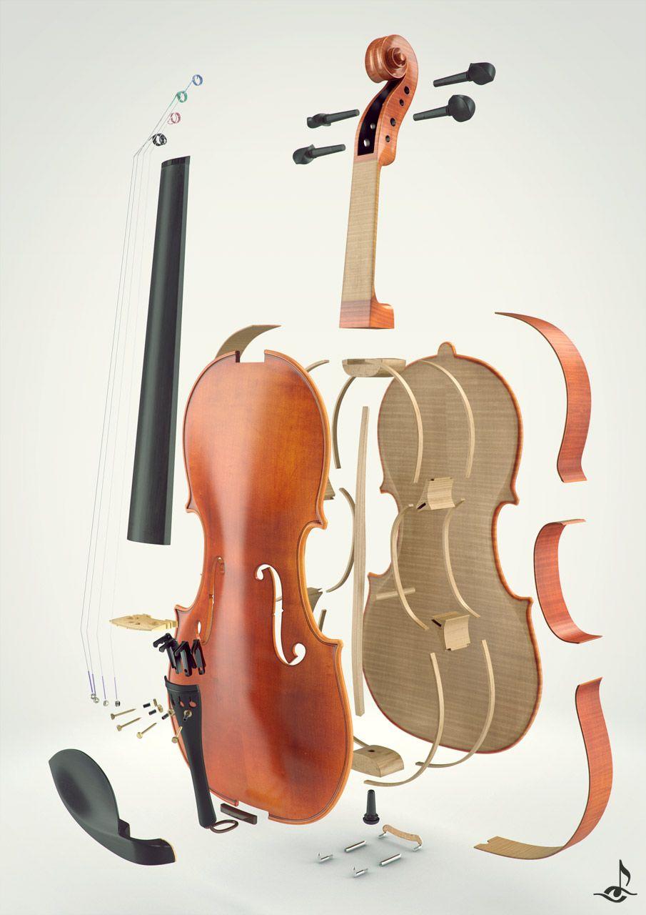 despiece de un violin